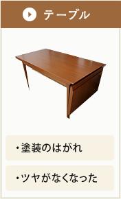 テーブルの修理事例 塗装のはがれ、ツヤがなくなったなど